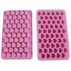 Sinuote Silicone 55 Mini Heart Shape Baking Mould Chocolate Mold Cake Decoration