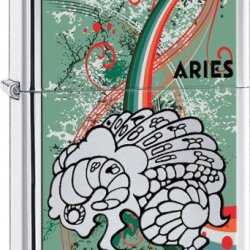 Zippo Zodiac Aries High Polish Chrome Lighter