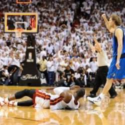 Dallas Mavericks V Miami Heat - Game Two, Miami, Fl - June 2: Dirk Nowitzki Photographic Poster Print By Garrett Ellwood, 8X12