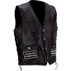 Incomparable Vests Standout Motorcycle Motorcycle Vest W/Patches-3X Exclusive