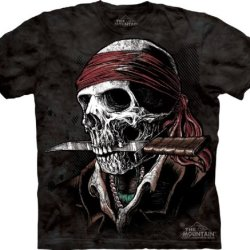 The Mountain Skullbone Undead Pirate Mens T-Shirt Xxl