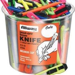 9Mm Snap Off Neon Knife Bucket [Set Of 50]