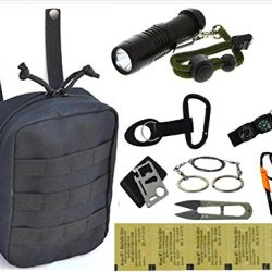 Vas Black Ops Survival Pack 3 With Survival Fire Starter, Whistle, Saw & 11N1 Survival Tool Plus Katadyn Micropur Water Purication Tablets & More