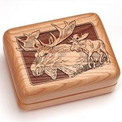 "3X4"" Box With Money Clip/Pocket Knife - Moose"