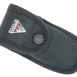 Buck 422 112 450 Holster Folding Knife Sheath Black Nylon With Buck Mountain Logo With Second Pouch ~ Made In Usa