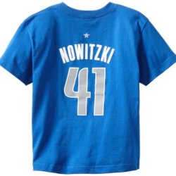 Nba Dallas Mavericks Dirk Nowitzki Youth 8-20 Short Sleeve Name & Number T-Shirt, X-Large, Blue