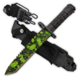 """Cld193 14 Inch Zombie Slayer Bayonet 3Ilnr6 (Ar-15 Style) Qacrb [Zombie/Serrated] Folding Knife Edge Sharp Steel Ytkbio Tikos567 Bgf Measuring At 14"""" Overall This Awesome Bayonet Is Used On The End Jl6Mu6F1Q Of A Soldier'S M-16 Or Ar-15! An Amazing Weapon"""