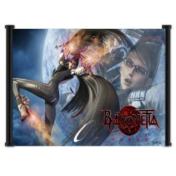 """Bayonetta Game Fabric Wall Scroll Poster (24""""X15"""") Inches"""