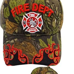 Fire Rescue Fire Dept Firefighter Real Tree Camo Cap Hat - Free Firefighter Knife