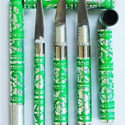 Green 3 Pcs Set Carving Knife Knive Stainless Thai Handmade Vegetable Fruit Soap Lot