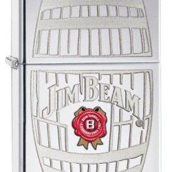Zippo Jim Beam Pocket Lighter With High Polish Chrome