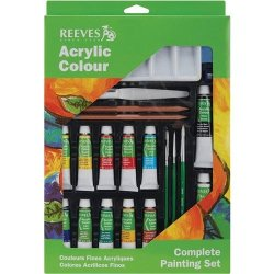 Reeves Nom354938 Complete Painting Set, Acrylic Colour