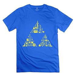 Marycel Men'S Triforce Art Fashion T-Shirt Royalblue Size Xs