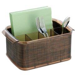 Interdesign Twillo Flatware Caddy, Bronze/Sand