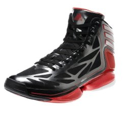 Adidas Adizero Crazy Light 2 Basketball Shoes - Black/White/Scarlet (Men) - 10