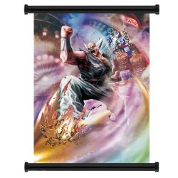 "Street Fighter X Tekken Heihachi Game Fabric Wall Scroll Poster (16""X22"") Inches"