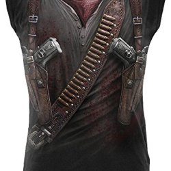 Holster Wrap Mens Sleeveless Ll-Over Print Muscle Top (Large)
