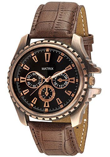 Matrix Analog Black Dial Men's Watch-WCH-121