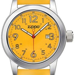 Zippo Casual Yellow Face Watch With Yellow Leather Strap