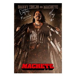 Danny Trejo And Michelle Rodriguez Autographed 27X39 Machete Poster W/ Two Insc.