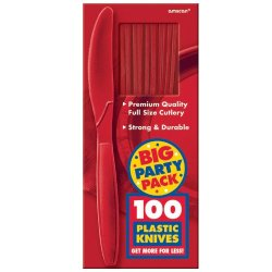 Amscan Apple Red Big Party Pack - Knives (100)