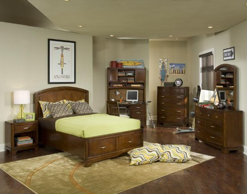 Image of 892 Newport Beach Panel Bed with Storage Footboard Bedroom Set by Legacy Classic Kids (B0030NEPS2)
