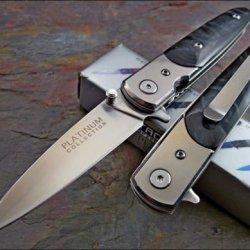 Tac-Force Platinum Black Pearl Folding Pocket Knife New!