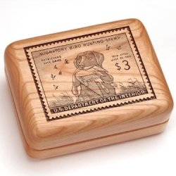 "3X4"" Box With Money Clip/Pocket Knife - King Buck Stamp"
