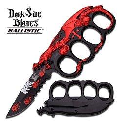 """Dark Side Blades Ballistic """"Eldritch"""" Red Dragon Ao Knife"""