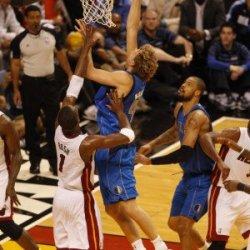 Dallas Mavericks V Miami Heat - Game One, Miami, Fl - May 31: Dirk Nowitzki And Chris Bosh Photographic Poster Print By Issac Baldizon, 8X12