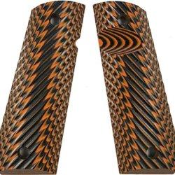 Lok Grips Ridgeback 1911 Grips Standard Full Size Commander (Orange-Black)