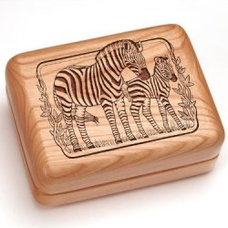 """3X4"""" Box With Money Clip/Pocket Knife - Zebra"""