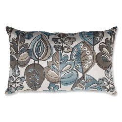 Pillow Perfect Leafster Bristol Blue Rectangular Throw Pillow, Blue