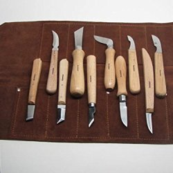 10 Wood Carving Knives Special Edition Signature Series Leather Roll Ramelson
