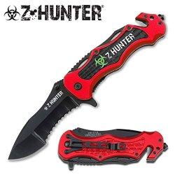 Z Hunter Apocalypse Red Zombie Knife Zomber Hunter Survival Tatical Camping Hunting Pocket Knife