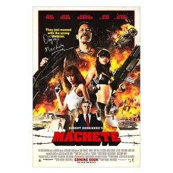 Danny Trejo Michelle Rodriguez Autographed 27X40 Machete International Ds Poster