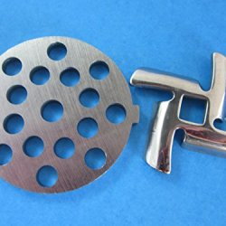 "5/16"" (7Mm) Disc And Knife For Waring Pro Nesco, Kalorik, Sunmile, Oster, Rival, Back To Basics Meat Grinder"