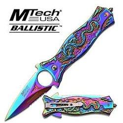"""4.5"""" Rainbow Dragon Flame Folding Knife - Rainbow"""