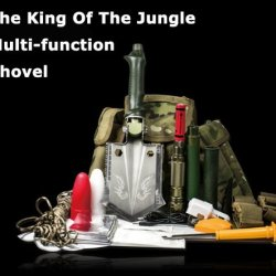 Outdoor Products Compact Multifunction Tibetan Mastiff Jungle Shovel For Hiking And Camping