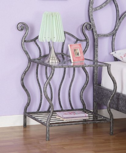 Image of Kids Nightstand with Tempered Glass Shelf in Multicolored Finish (AZ00-46951x19446)