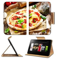 Pizza Dish Food Spices Tomatoes Cheese Dough Knife Fork Amazon Kindle Fire Hd 8.9 [2012 Version] Flip Case Stand Magnetic Cover Open Ports Customized Made To Order Support Ready Premium Deluxe Pu Leather 9 13/16 Inch (250Mm) X 6 7/8 Inch (175Mm) X 11/16 I