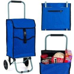 Trademark Home Portable Canvas Shopping Cart, 3 Compartments