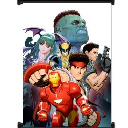 Marvel Vs Capcom 3 Game Fabric Wall Scroll Poster (16X21) Inches