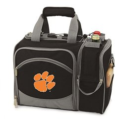 Clemson Tigers Malibu Insulated Picnic Shoulder Pack/Bag - Hunter Green W/Embroidery