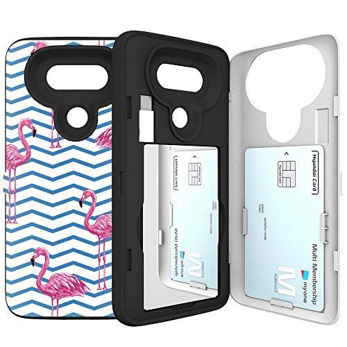 LG-G5-Case-G5-Card-Case-SKINU-Designer-Pattern-Card-Slot-Dual-Layer-Wallet-with-Mirror-For-LG-G5-Flamingos