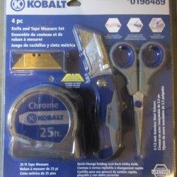 Kobalt 4-Piece Knife And Tape Measure Set