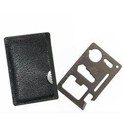 2Pcs In Pack Multi- Function Credit Card Size Survival Pocket Tool 10 Kinds Function