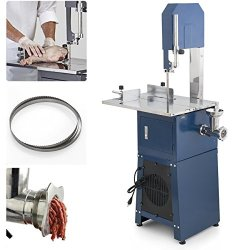 550W Stand Up Meat Band Saw & Grinder Dual Electric Food Processor 2 Free Blades