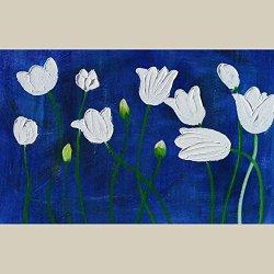 Modern Art Canvas Flower Palette Knife Art Wall Art Artwork For Home Decor 12X18 In/30X45Cm Unframed