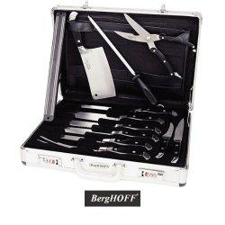 Berghoff Ergonomic Knife Set With Travel Case - 12 Piece